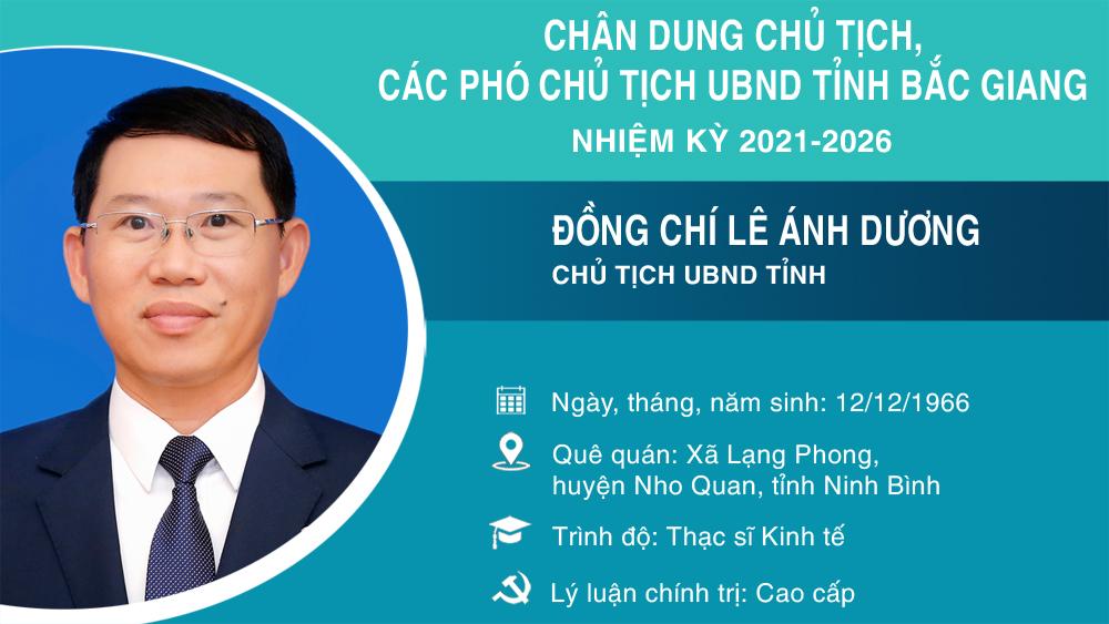 Chân dung Chủ tịch, các Phó Chủ tịch UBND tỉnh Bắc Giang nhiệm kỳ 2021-2026